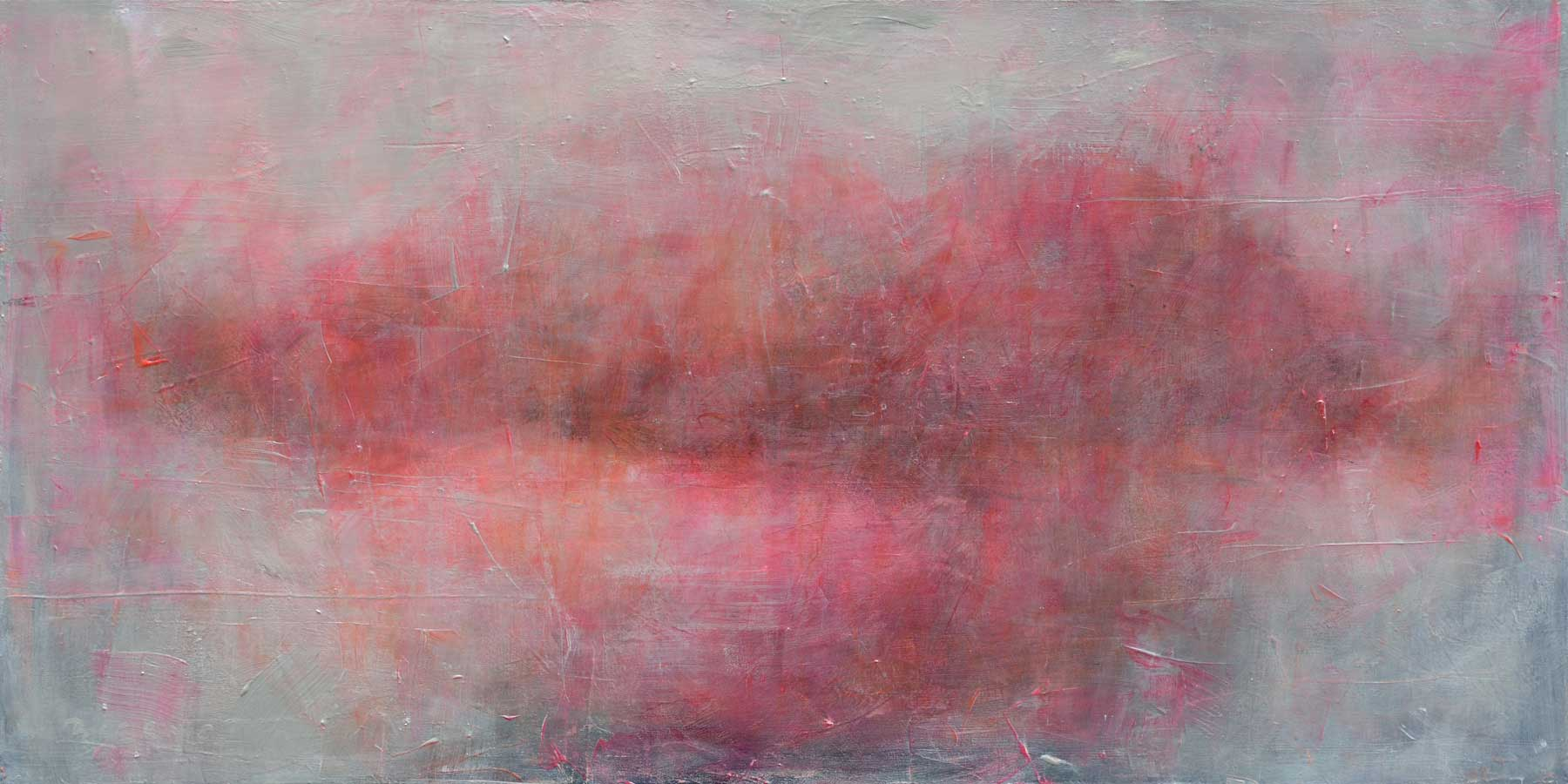 2014  Island XII  |  acrylic, pastel,on canvas | 48 x 24 in